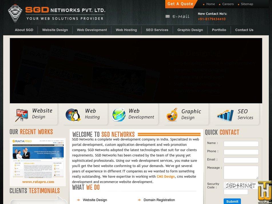 sgdnetworks.com Screenshot