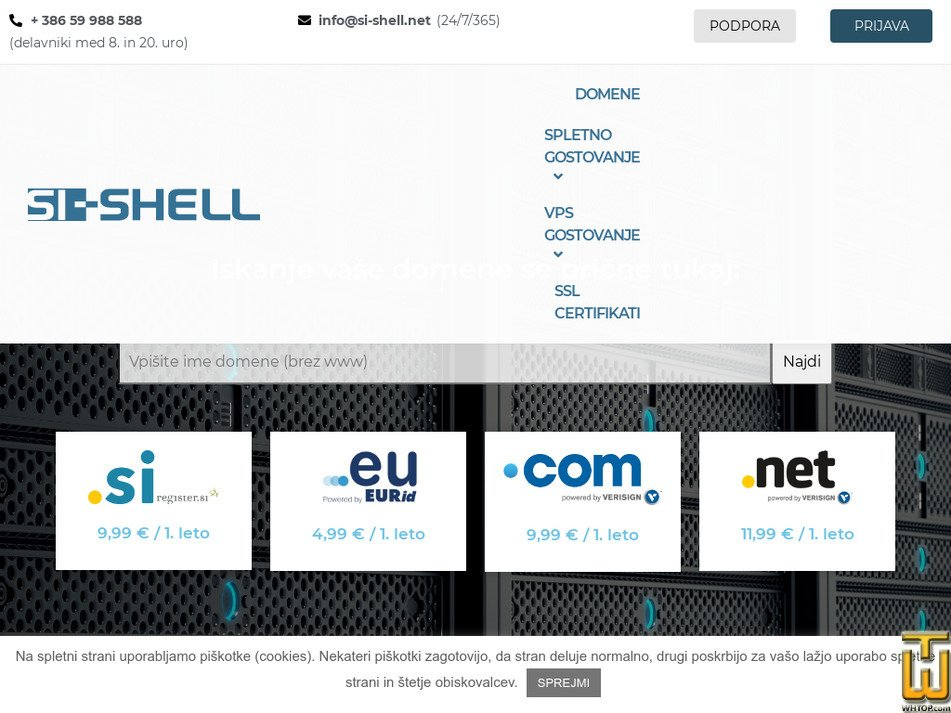 si-shell.net Screenshot