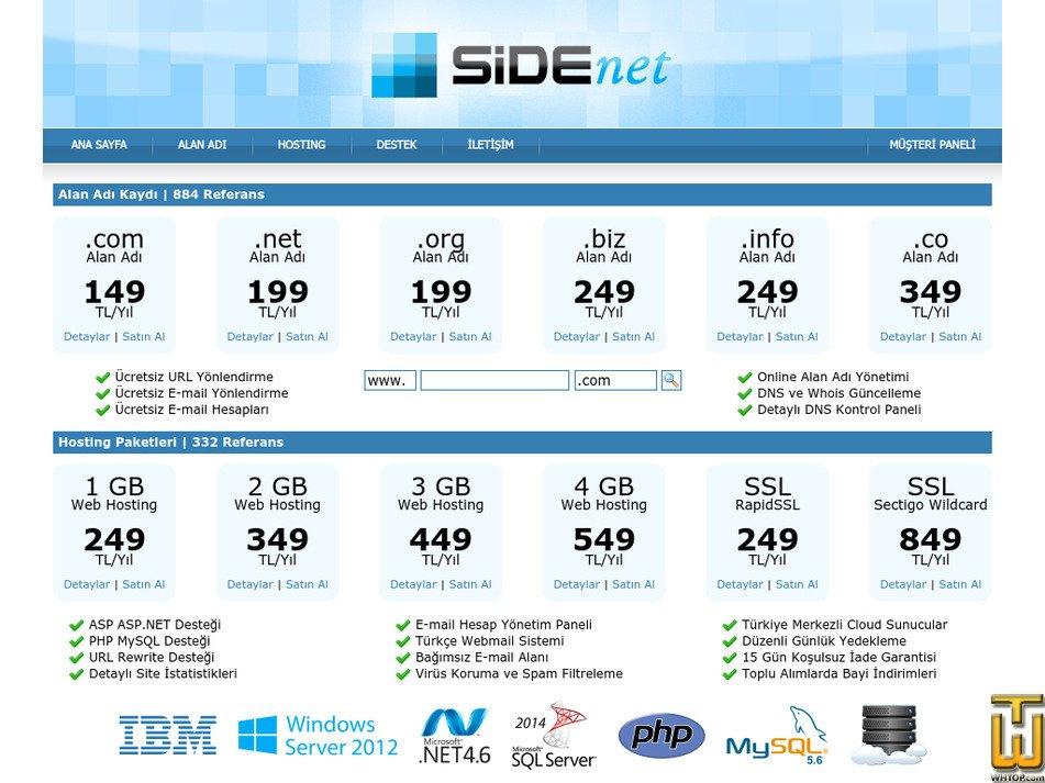 side.net.tr Screenshot