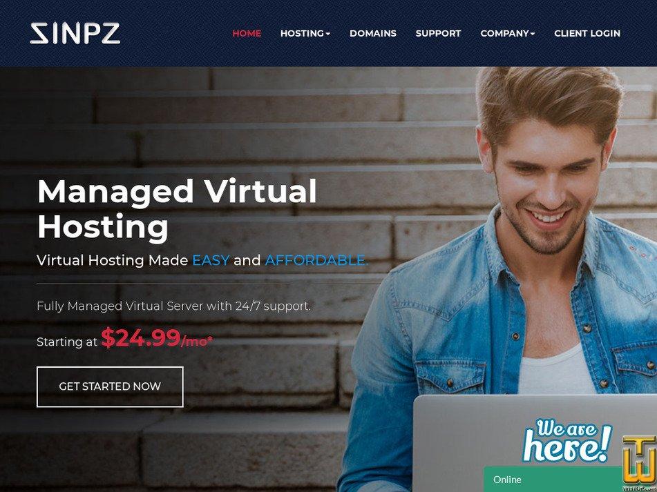 sinpz.com Screenshot