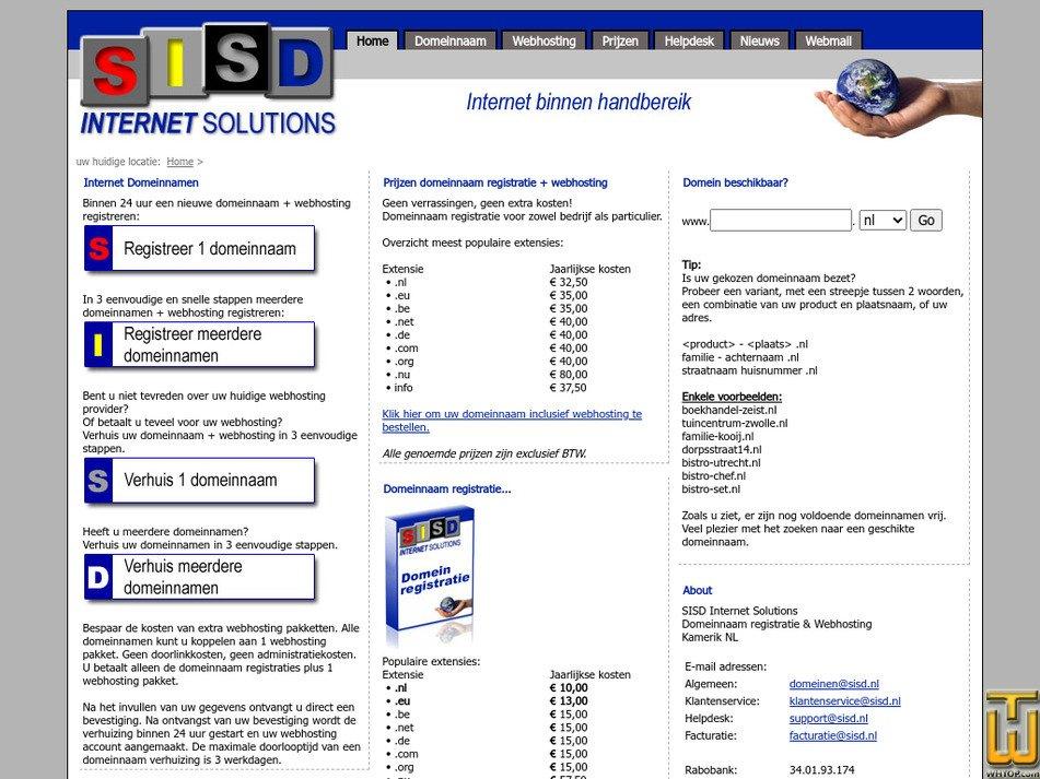 sisd.nl Screenshot