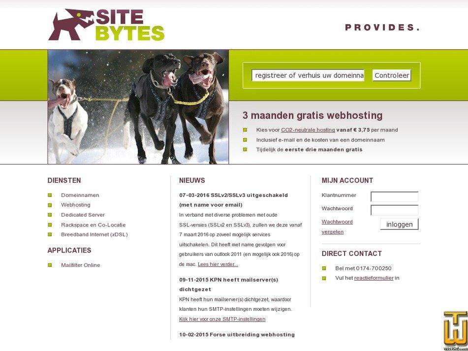 sitebytes.nl Screenshot