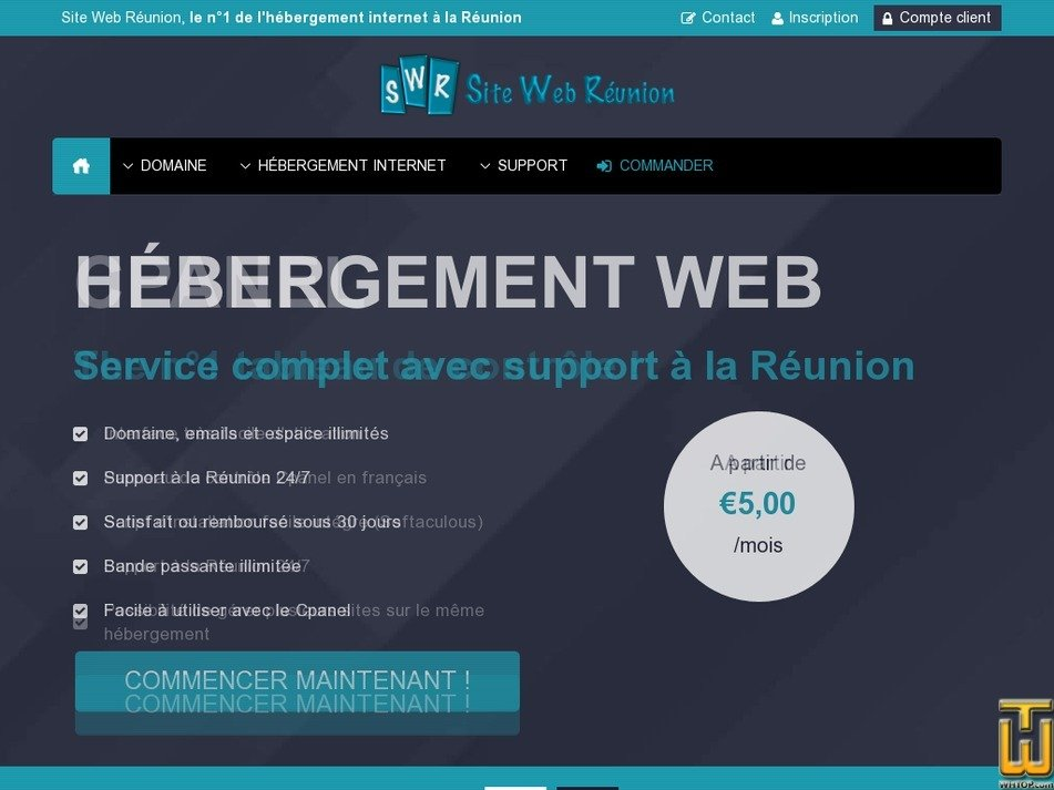 sitewebreunion.net screenshot