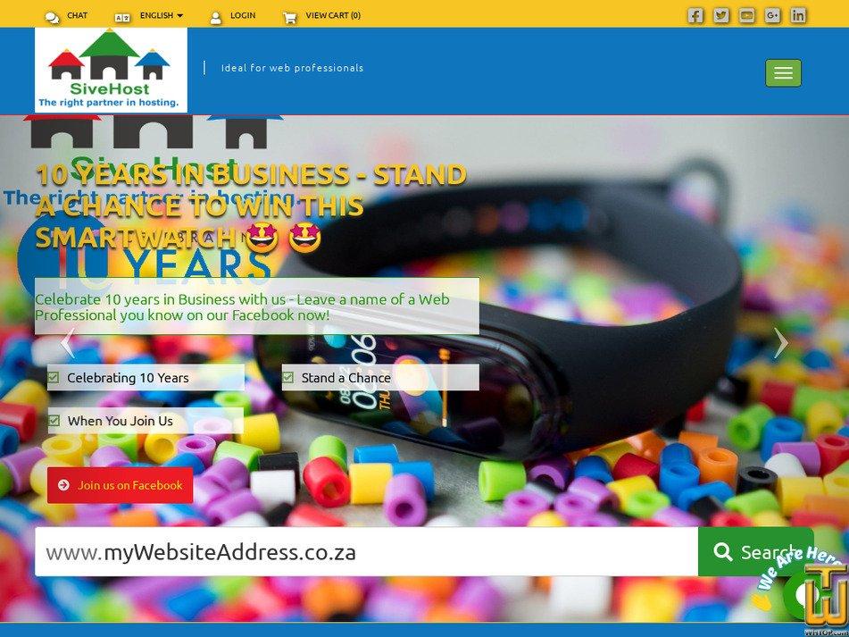 sivehost.com Screenshot