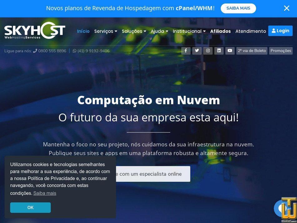 skyhost.com.br Screenshot