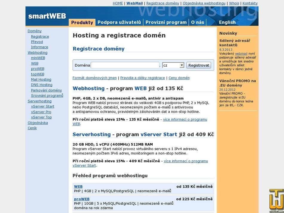 smartweb.cz Screenshot