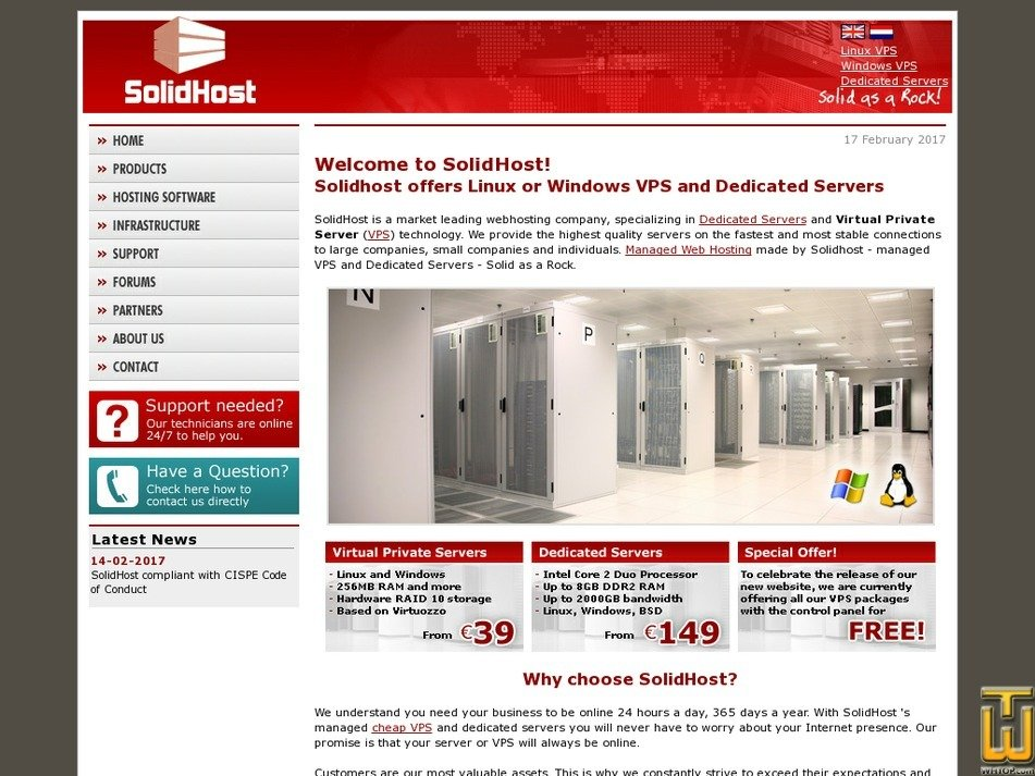 solidhost.com Screenshot