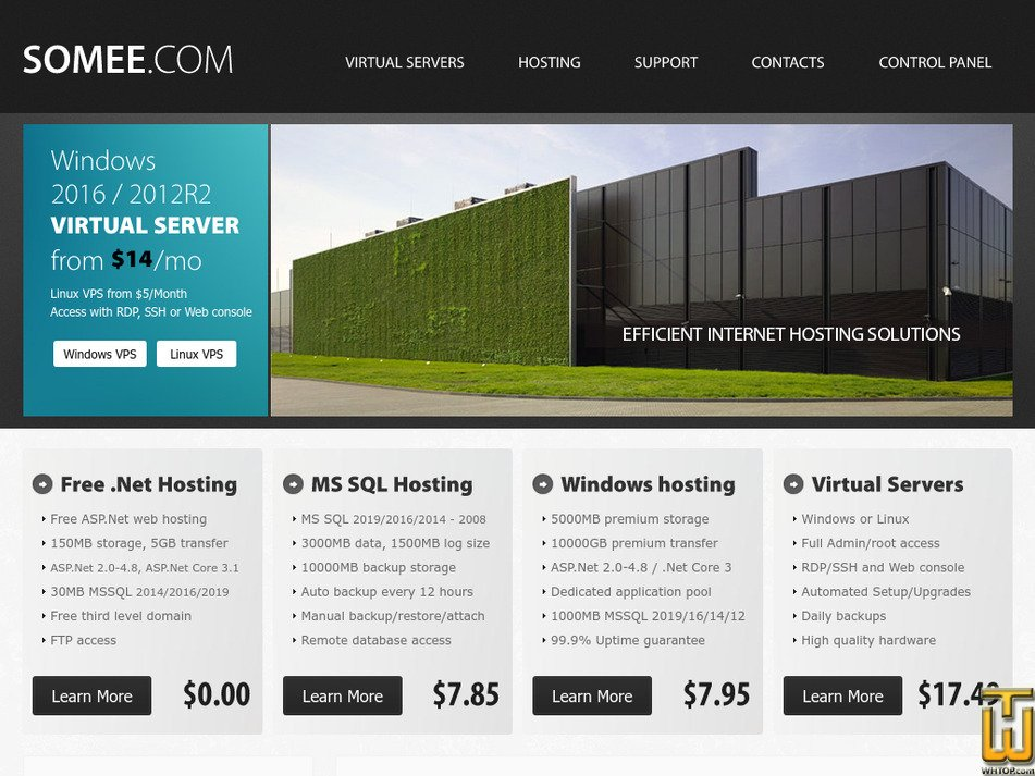 somee.com Screenshot