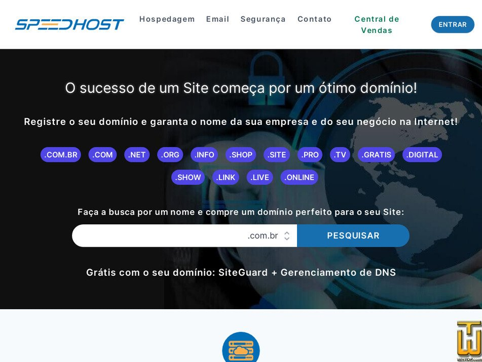 speedhost.com.br Screenshot