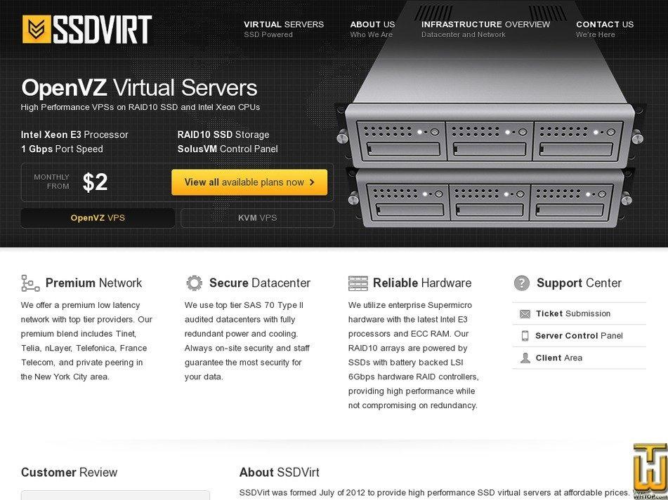 ssdvirt.com Screenshot