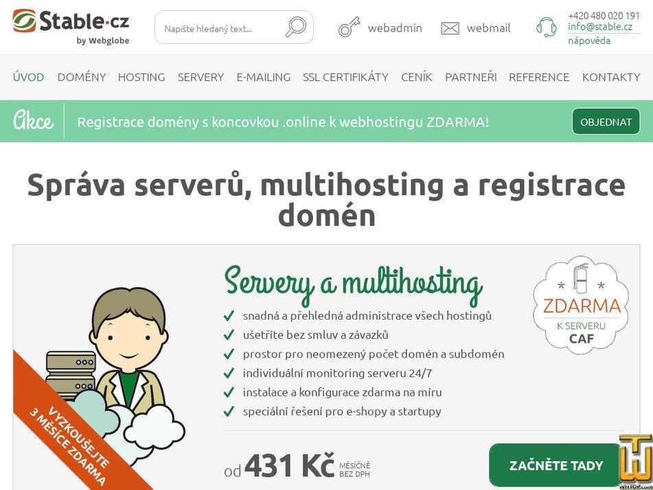 stable.cz Screenshot