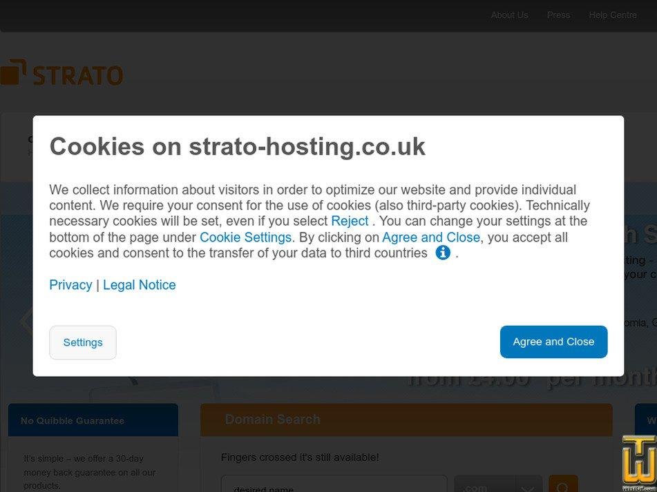 strato-hosting.co.uk screenshot