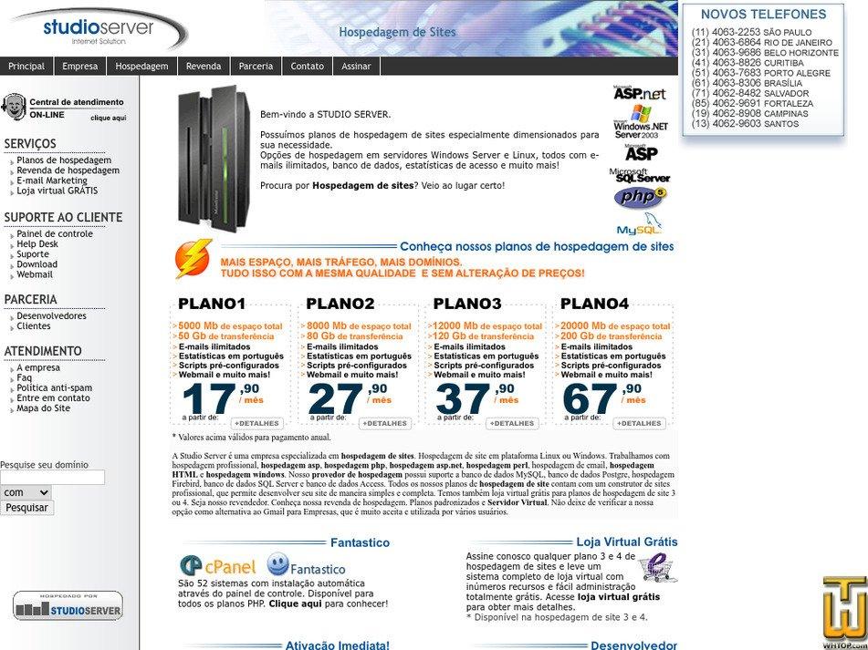 studioserver.com.br Screenshot