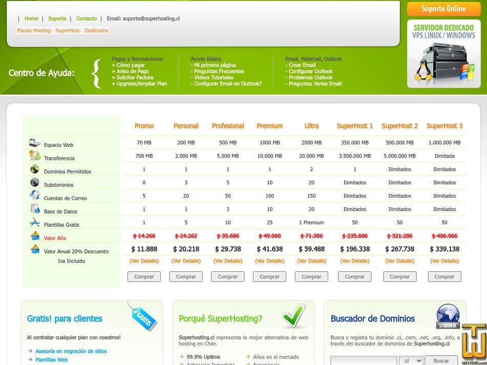 superhosting.cl Screenshot