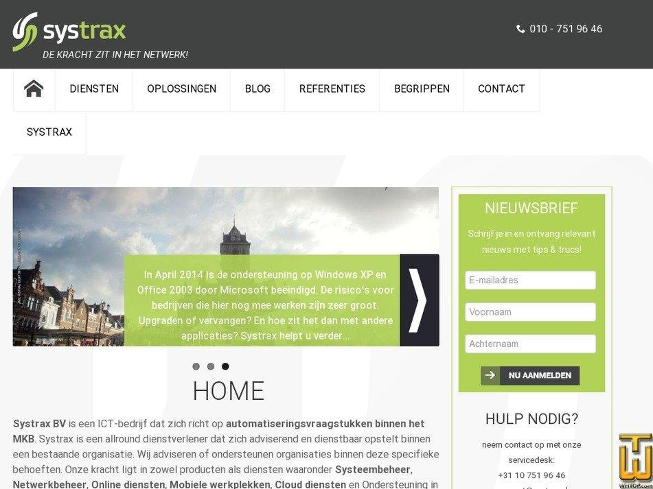 systrax.nl Screenshot