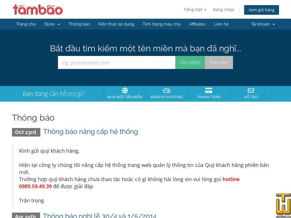 tambao.vn screenshot