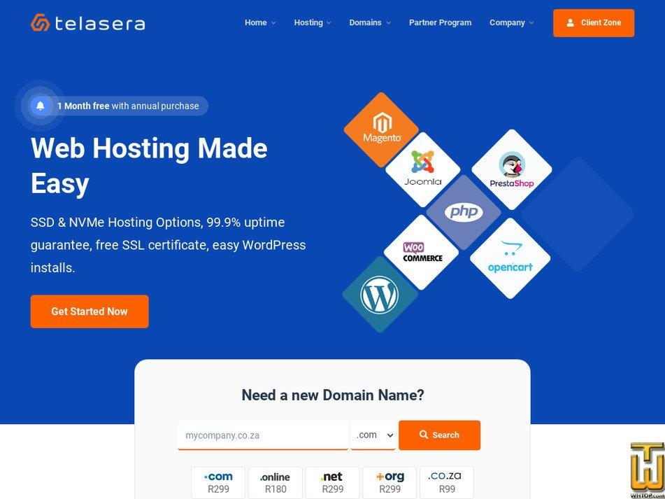 telasera.com Screenshot
