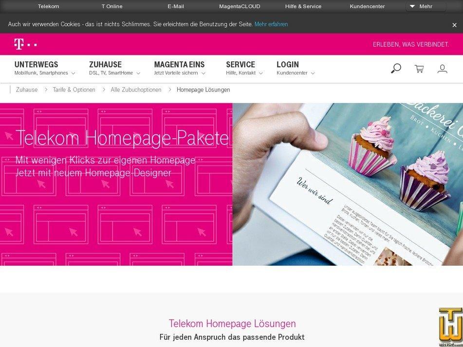 Homepage login telekom