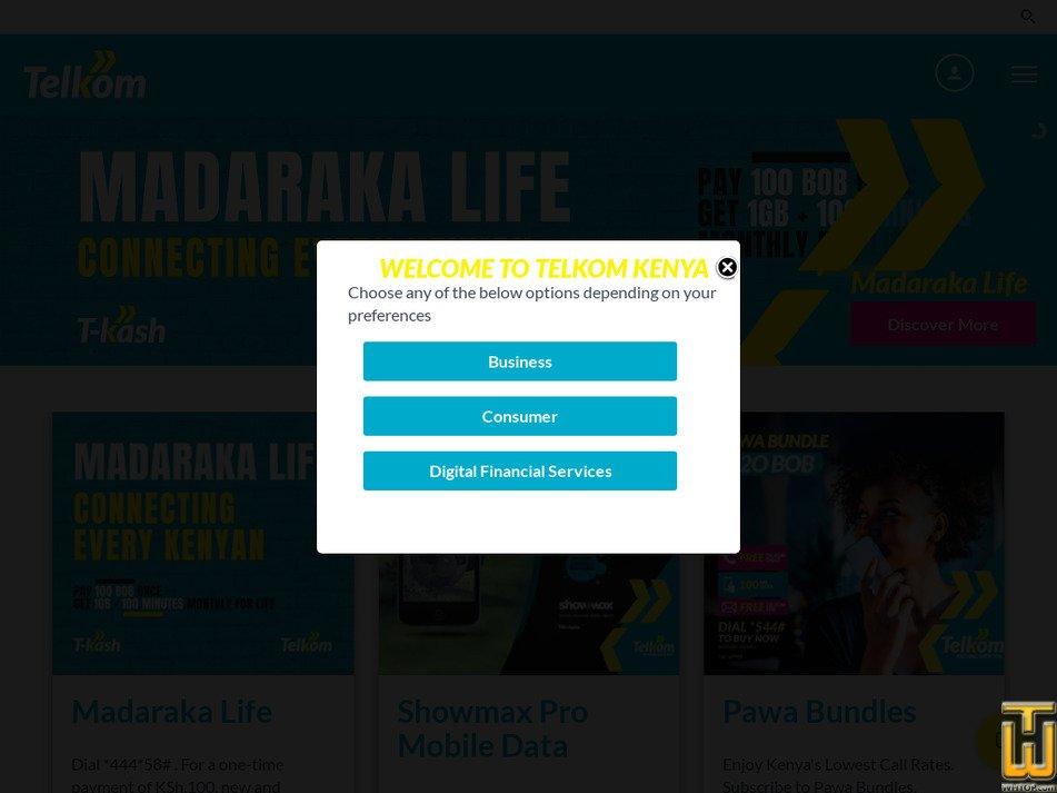 telkom.co.ke Screenshot