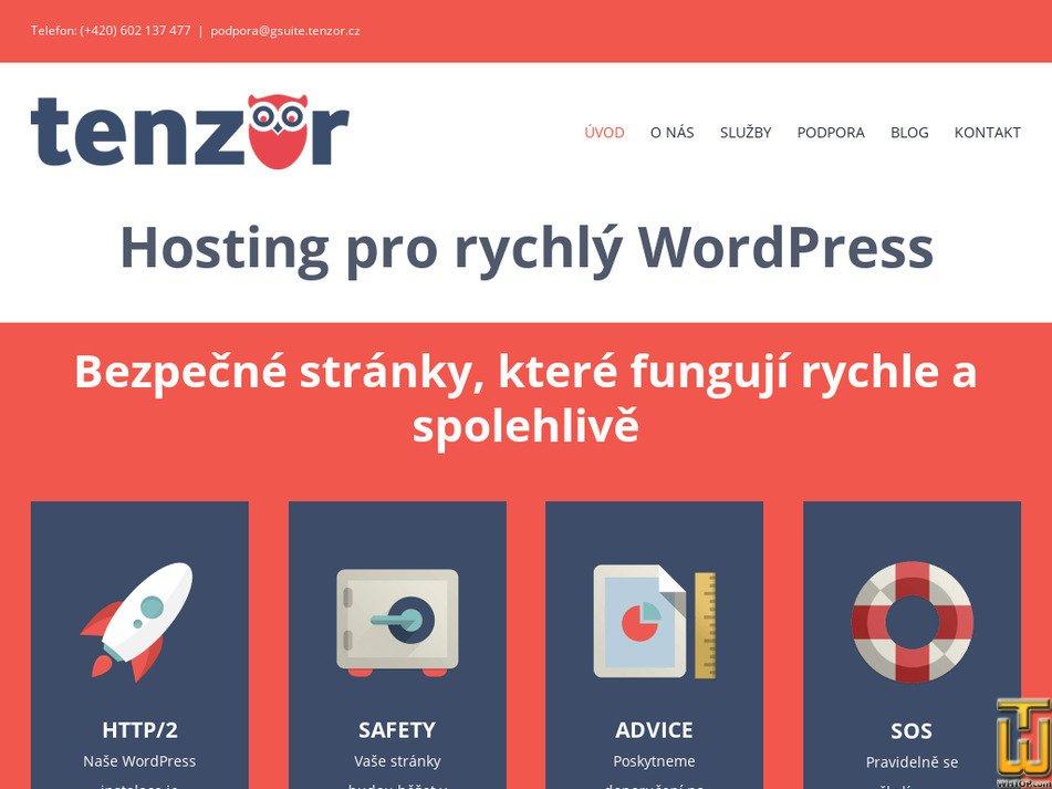 tenzor.cz Screenshot