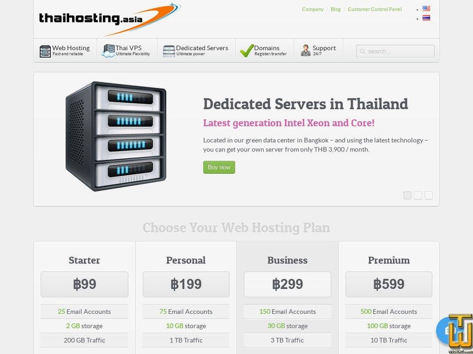 thaihosting.asia screenshot