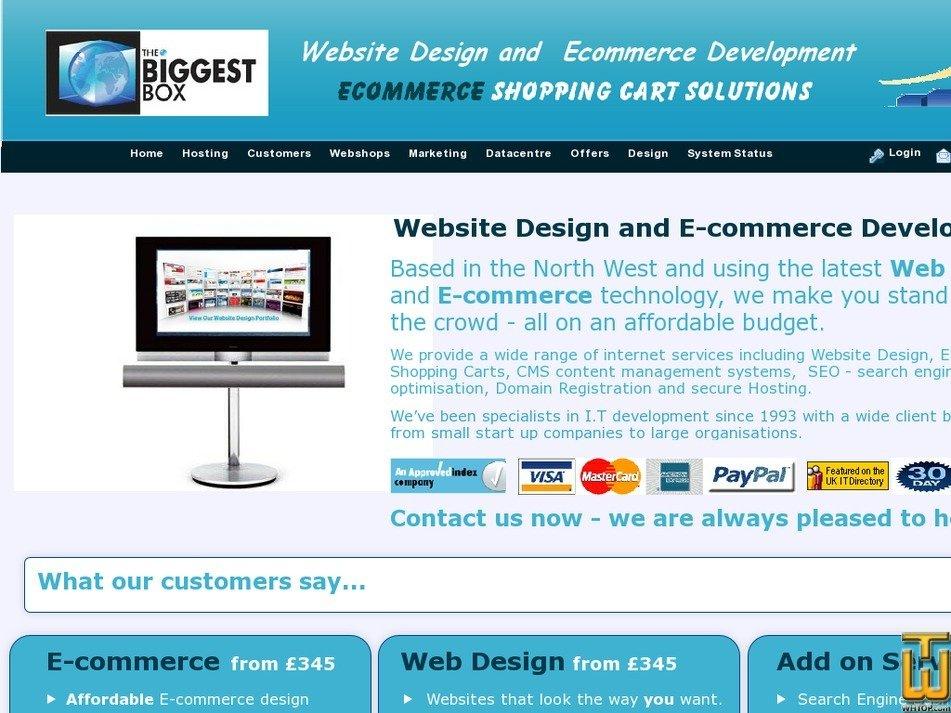 thebiggestbox.co.uk Screenshot