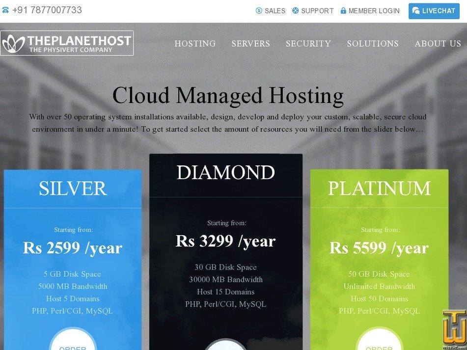 theplanethost.com Screenshot