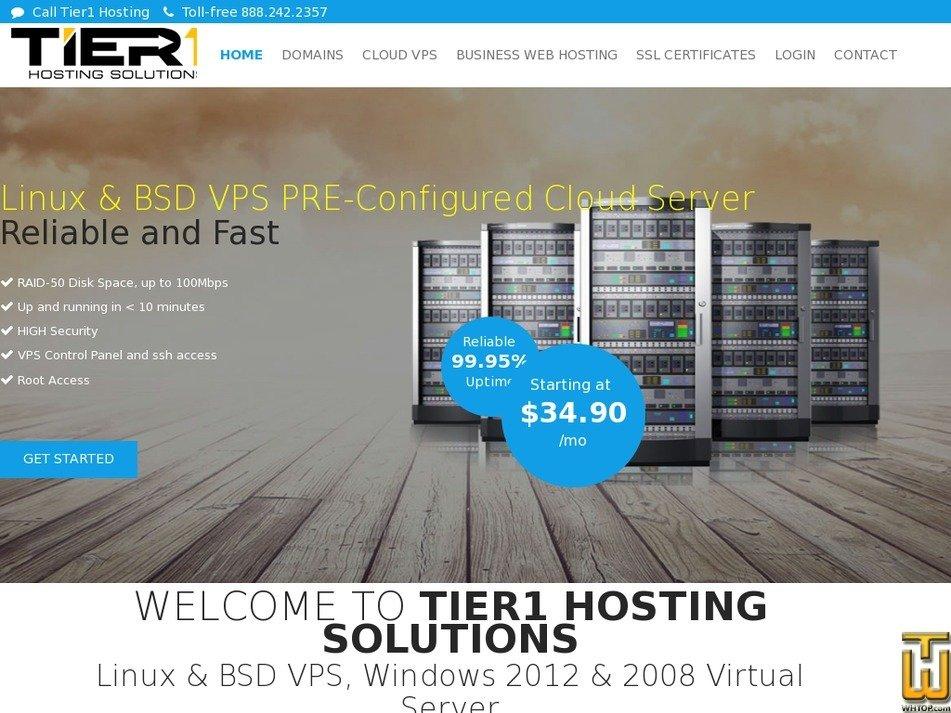 tier1hosting.net Screenshot