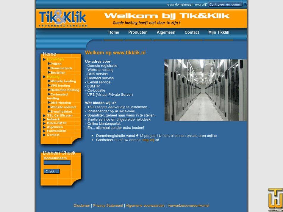 tikklik.nl Screenshot