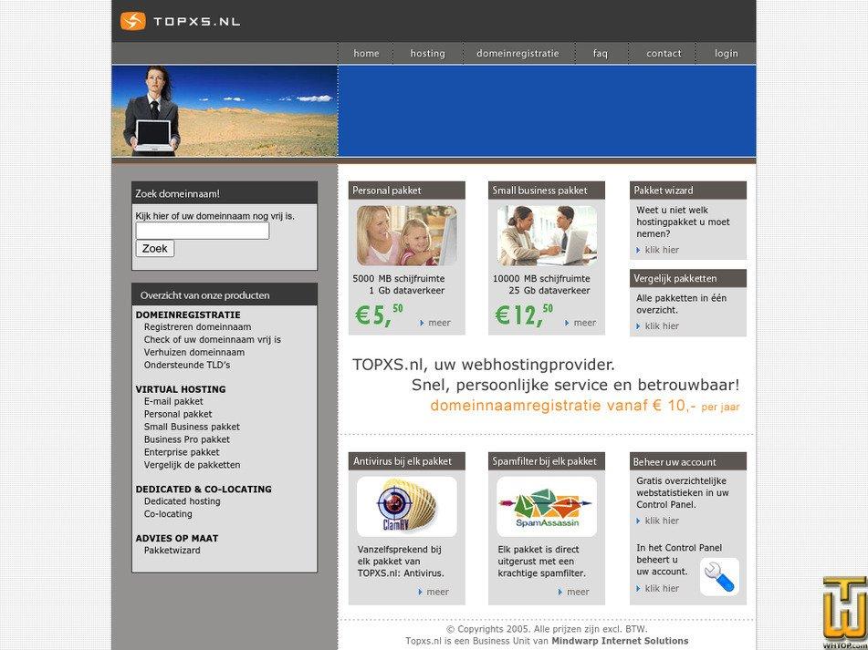 topxs.nl Screenshot