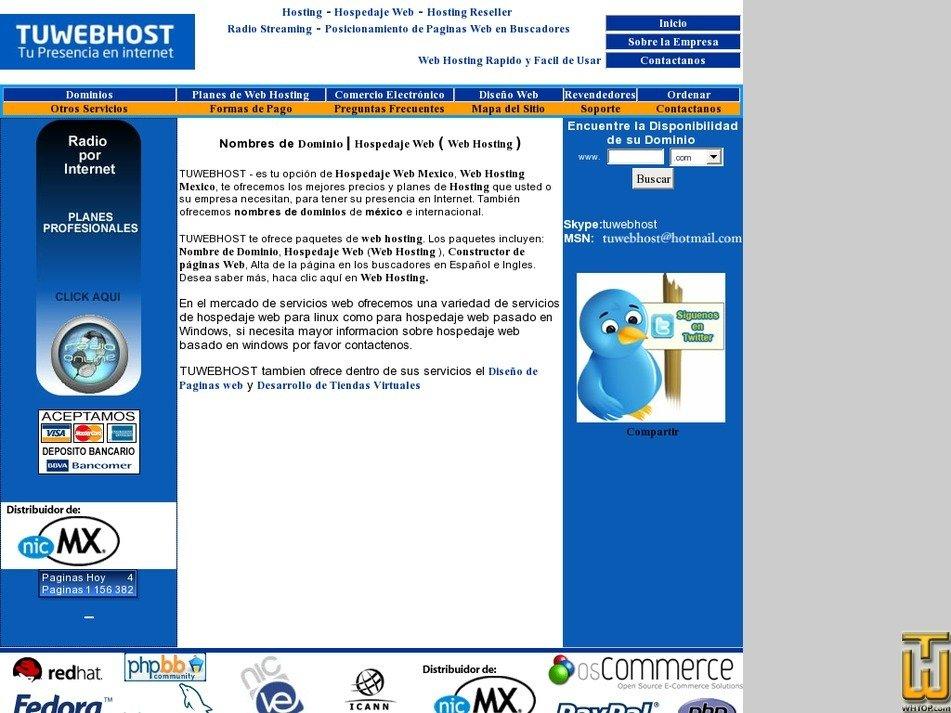 tuwebhost.com Screenshot