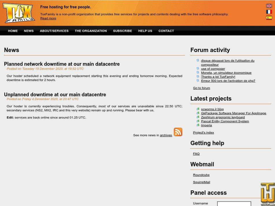 tuxfamily.org Screenshot