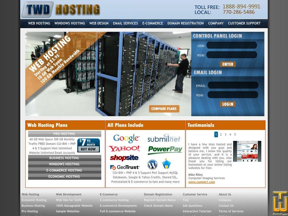 twdhosting.com Screenshot