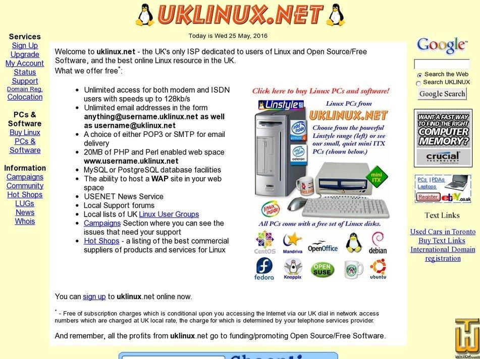 uklinux.net Screenshot