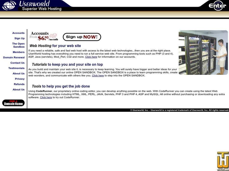 userworld.com Screenshot
