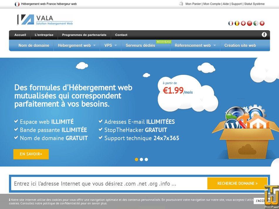 vala.fr Screenshot