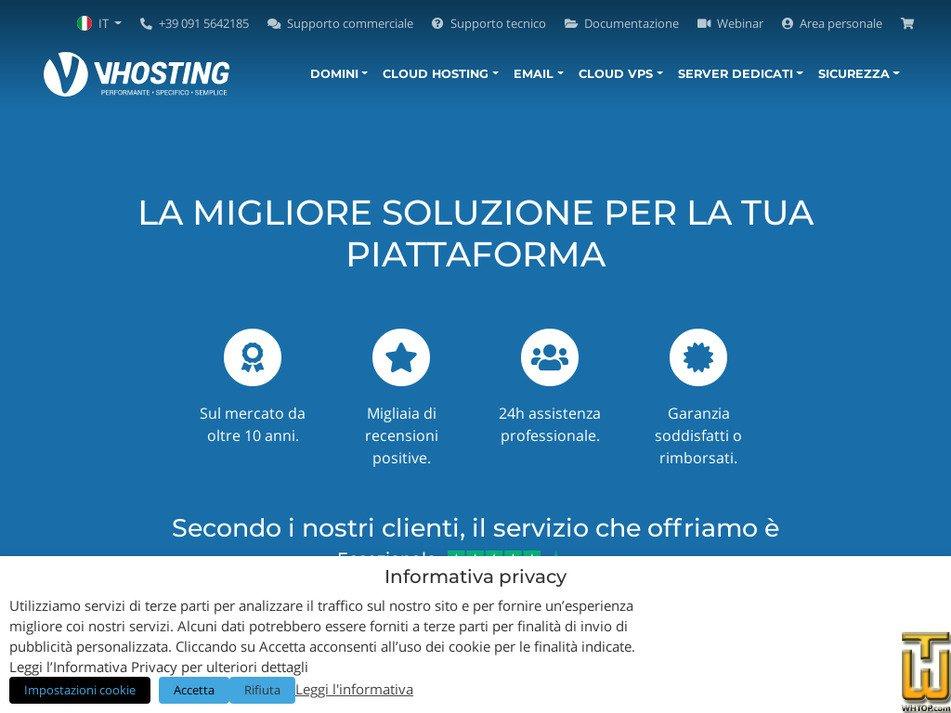 vhosting-it.com Screenshot