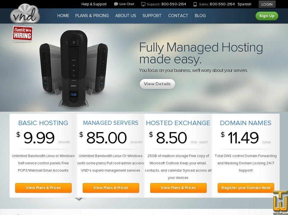 vndhost.com Screenshot