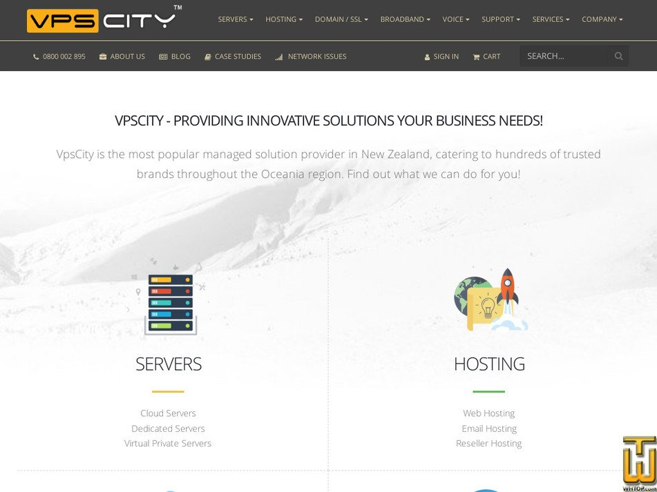 vpscity.co.nz screenshot