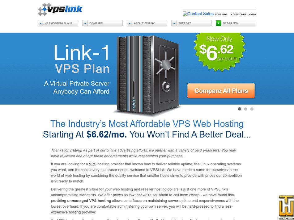 vpslink.com Screenshot