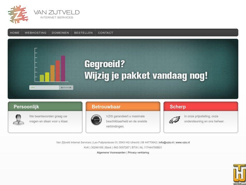 vzis.nl Screenshot