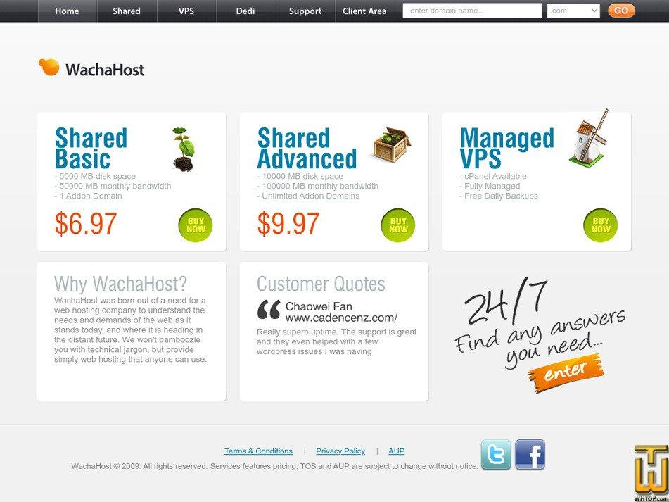 wachahost.com Screenshot