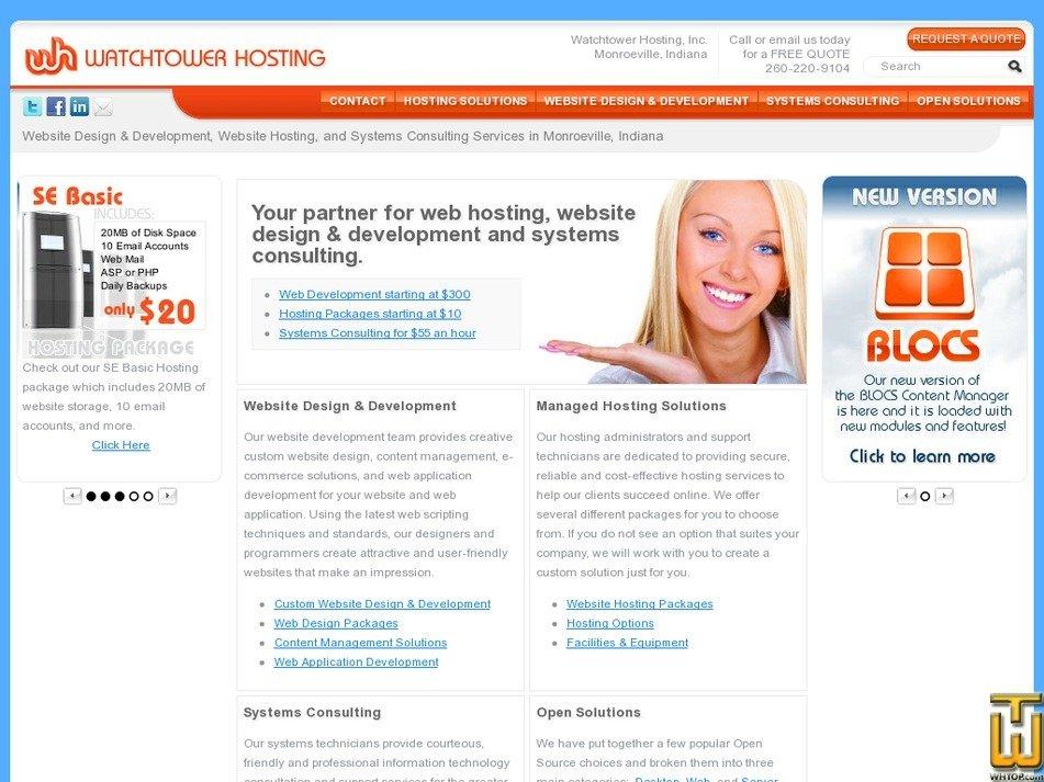 watchtowerhosting.com Screenshot