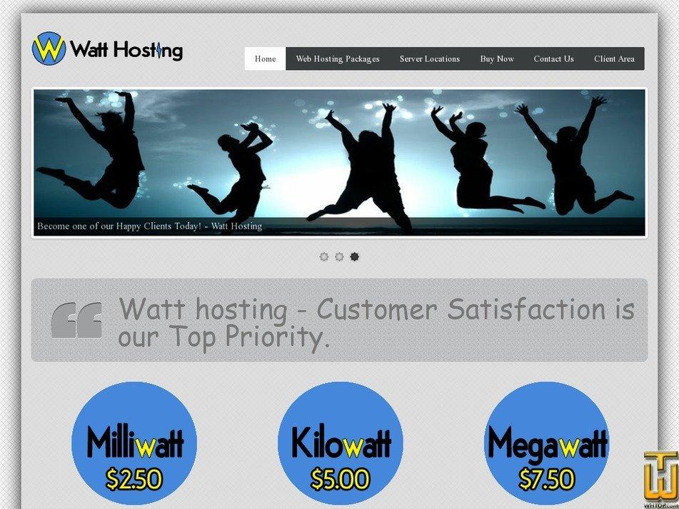 watthosting.com Screenshot