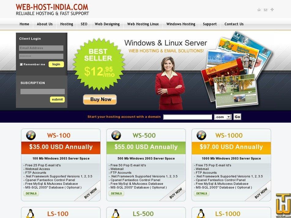 web-host-india.com Screenshot