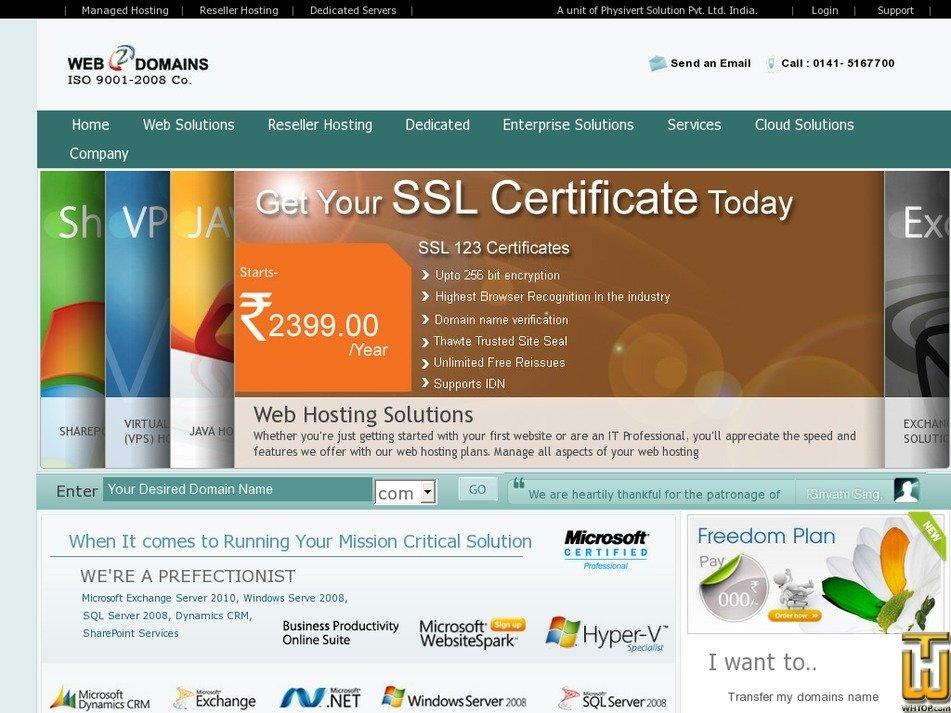web2domains.com Screenshot