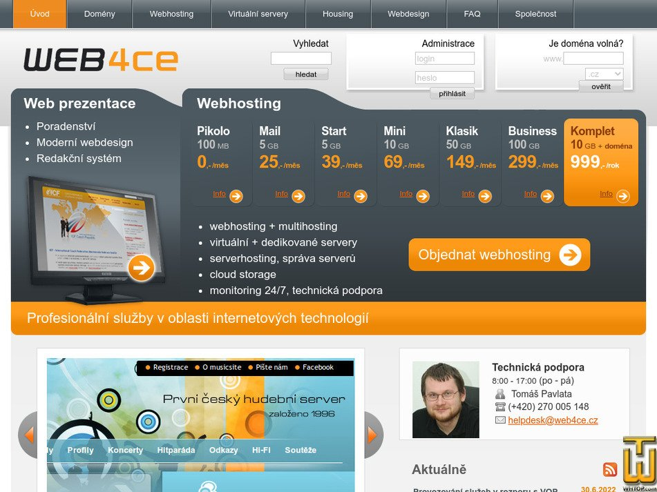 web4ce.cz Screenshot