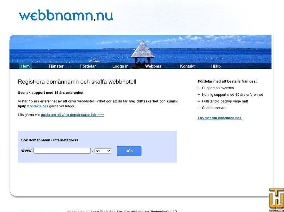webbnamn.nu Screenshot