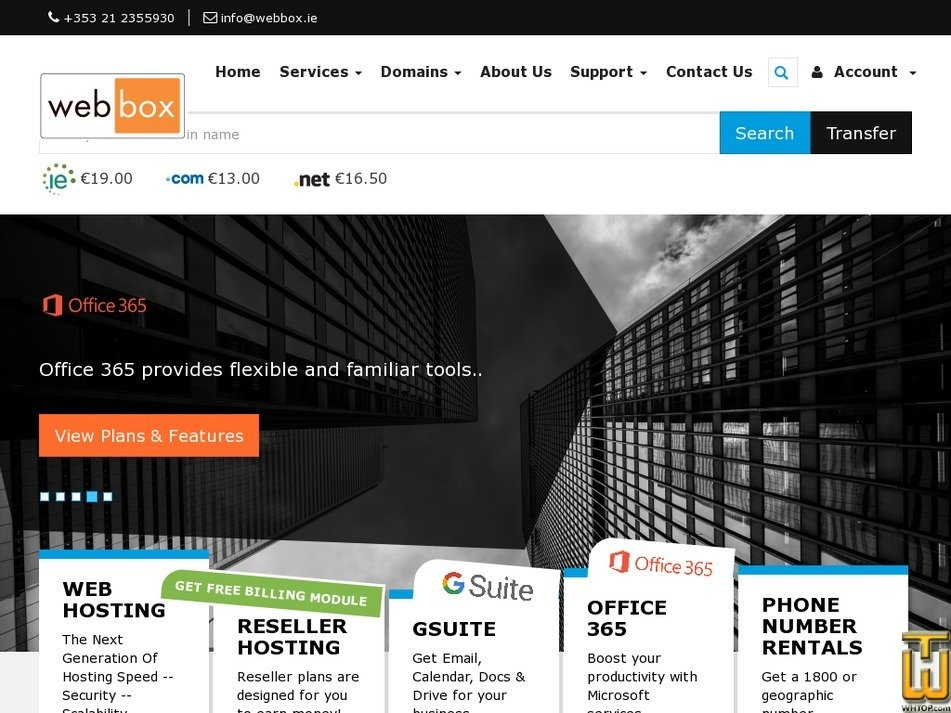 webbox.ie screenshot