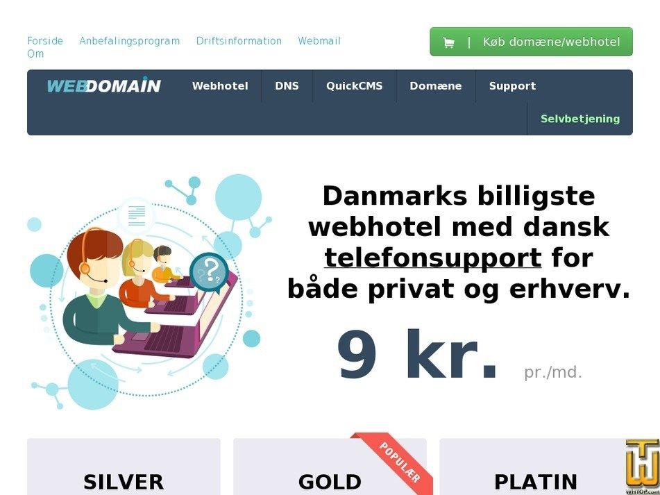 webdomain.dk Screenshot